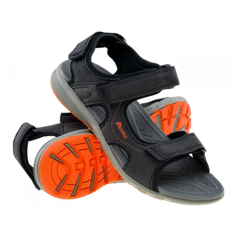 Sandały męskie ELBRUS MERIOS czarno-pomarańcz 41