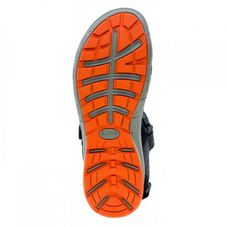 Sandały męskie ELBRUS MERIOS czarno-pomarańcz 46