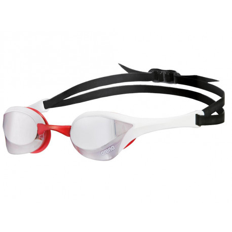 Okularki pływackie ARENA 1E032-515 biało-czerwone